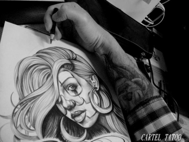 Image Result For Angel Tattoos Black And Graya