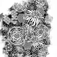 Flowers Popping Off Geometric / Sacred Geometry Design All Down My Side